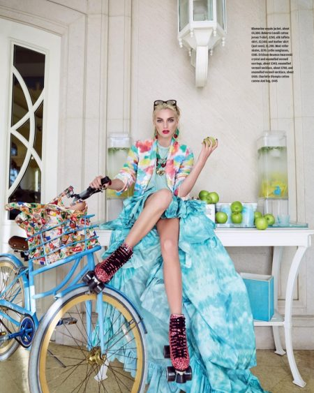 Rose Smith Poses in Colorful Summer Style for How to Spend It