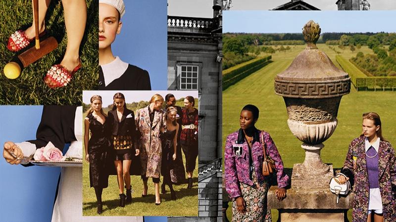 Anna Ewers, Dasha Dogusheva, Dilia Martins, Jeny Howorth, Mayowa Nicholas and Taylor Hill star in Miu Miu's fall 2016 advertising campaign