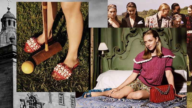 Amanda Seyfried appears in Miu Miu's fall-winter 2016 advertisements