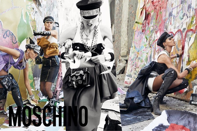 The Moschino Girls Get Rebellious for Fall '16 Campaign