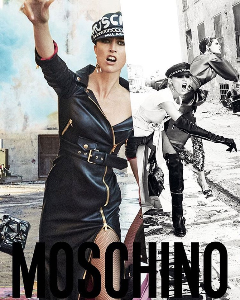 Raquel Zimmermann stars in Moschino's fall-winter 2016 campaign