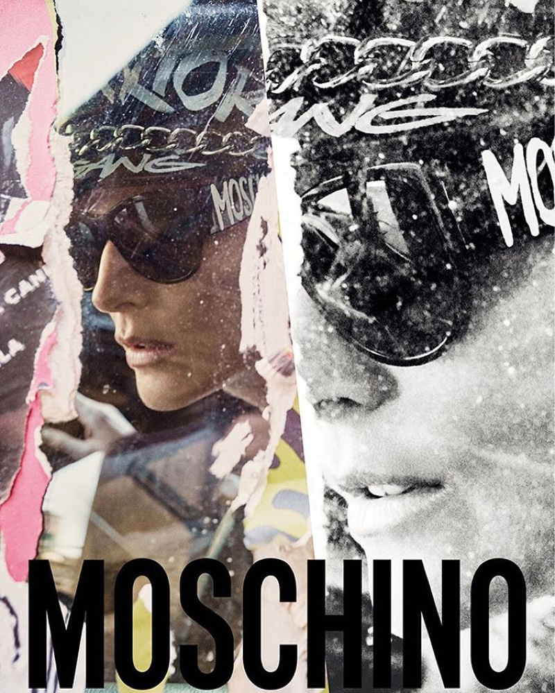 Stella Tennant looks biker chic in Moschino's fall-winter 2016 campaign