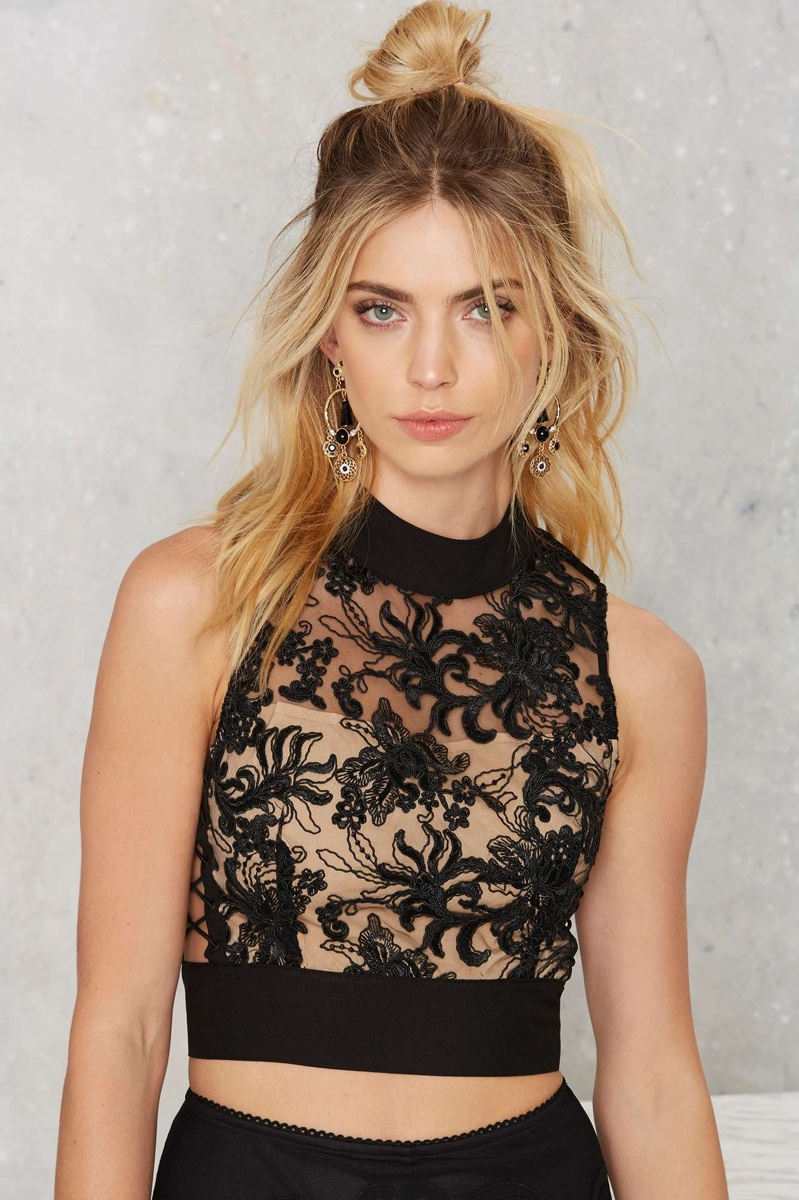 Nasty Gal Permanent Mark Crop Top