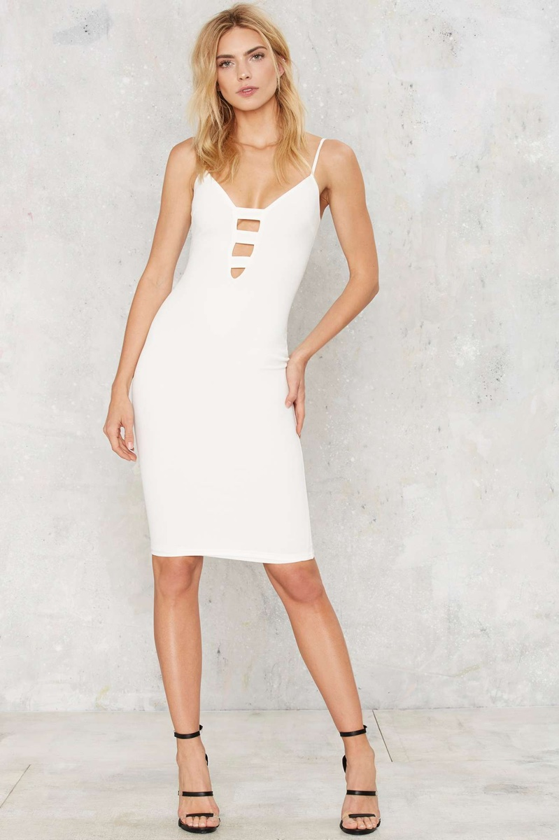 Nasty Gal Pushing the Limit Bodycon Dress in White