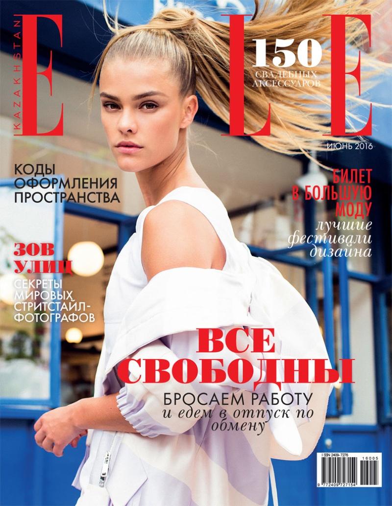 Nina Agdal on ELLE Kazakhstan July 2016 Cover
