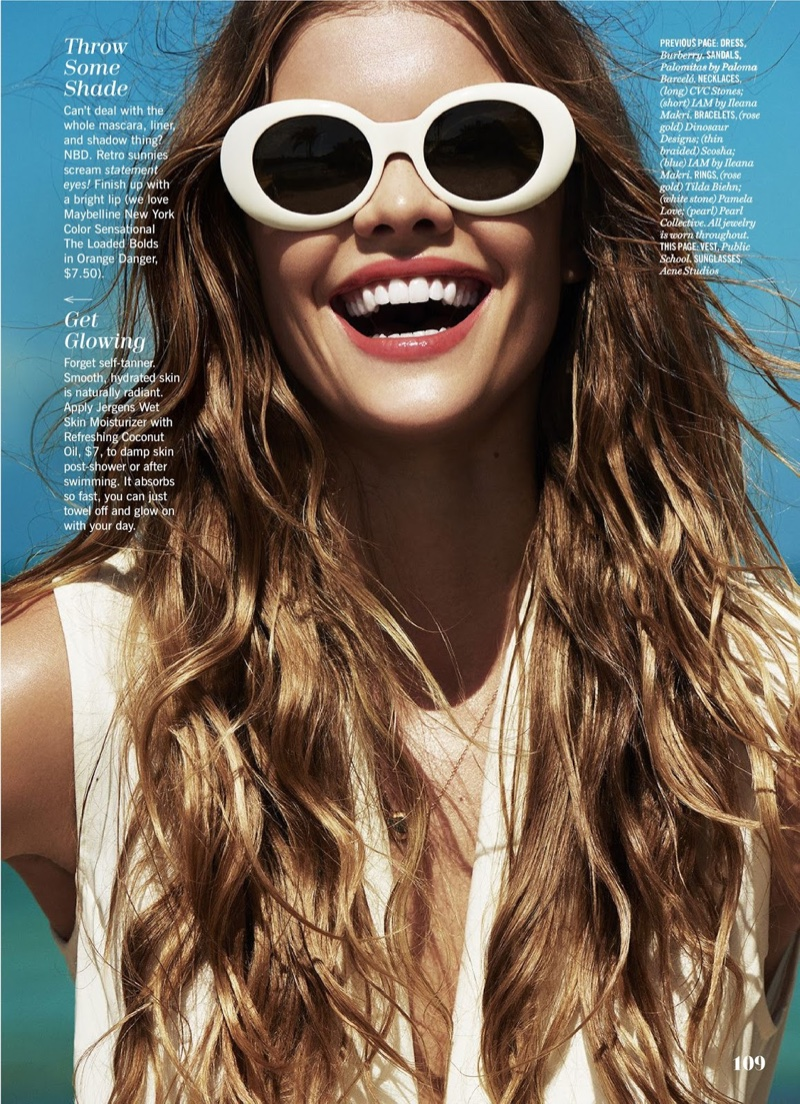 Nina Agdal poses in summer looks for the fashion editorial