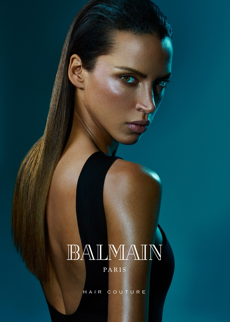 Noemie Lenoir appears in Balmain Hair summer 2016 campaign