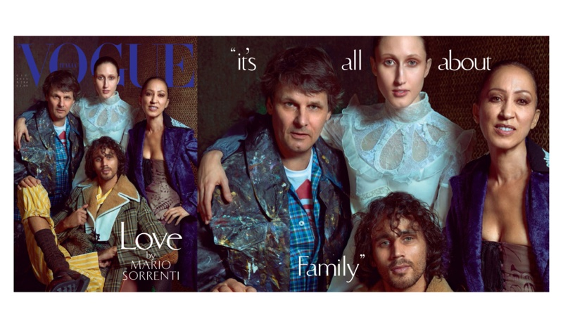 Paul and Noel Van Ravenstein with Anna and Pat Cleveland cover Vogue Italia June 2016 issue