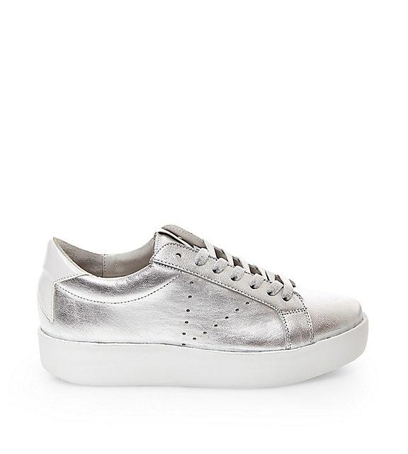 Steve Madden Baleigh Platform Sneakers in Silver