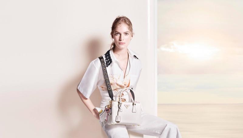 Vanessa Axente stars in Prada's pre-fall 2016 campaign