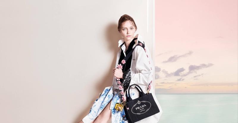 Sasha Pivovarova stars in Prada's pre-fall 2016 campaign