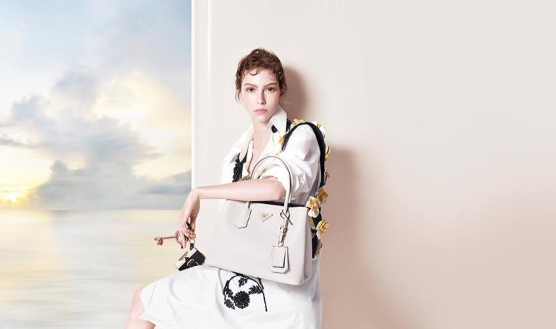 Vittoria Ceretti stars in Prada's pre-fall 2016 campaign