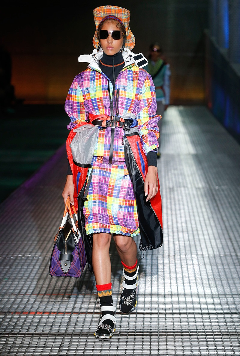 Prada resort 2017: Miuccia Prada embraces sporty shapes and bold color combinations