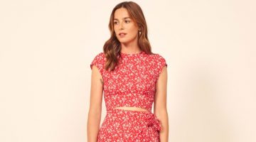 Reformation Alana Dress in Merci $218