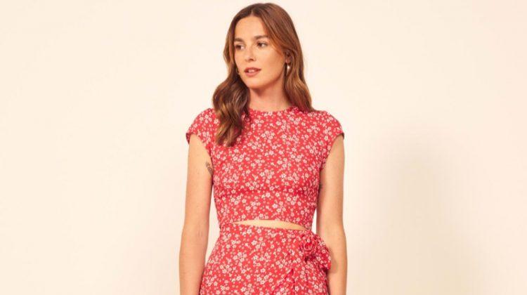 Reformation Alana Dress in Merci $218