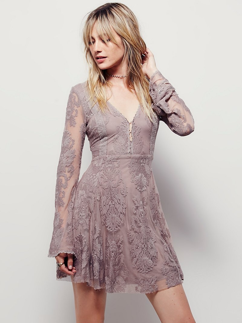 FP Collection Reign Over Me Lace Mini Dress