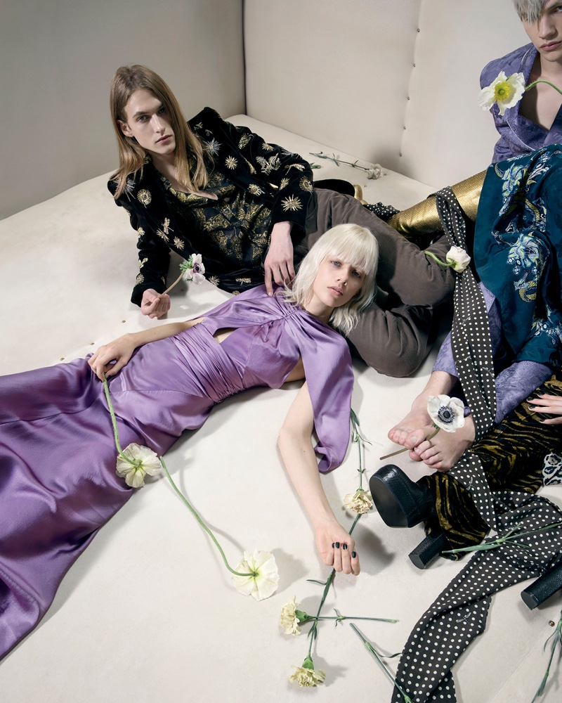 Photographed by Tim Walker, Roberto Cavalli's fall-winter 2016 campaign focuses on androgynous styles