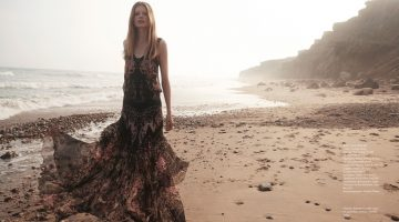 Saara Sihvonen Hits Beach in Dreamy Dresses for ELLE Kazakhstan