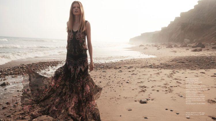 Saara Sihvonen Hits Beach in Dreamy Dresses for ELLE Kazakhstan