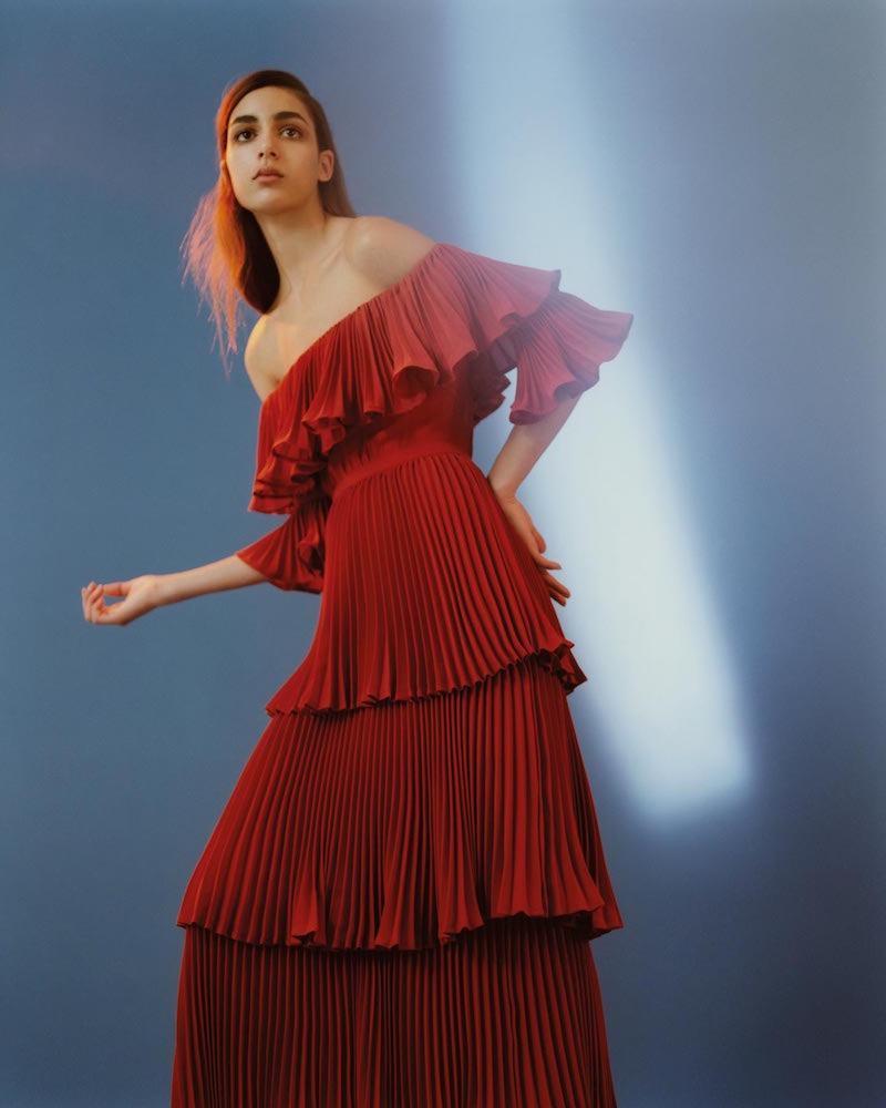 77e8a158a242e Self Portraits features an off-the-shoulder dress in pre-fall 2016 campaign