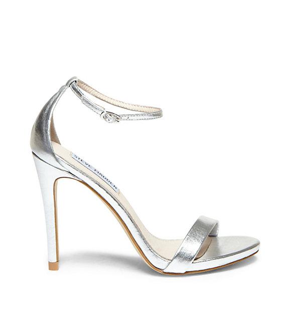 Steve Madden Stecy Ankle Strap Sandal in Silver