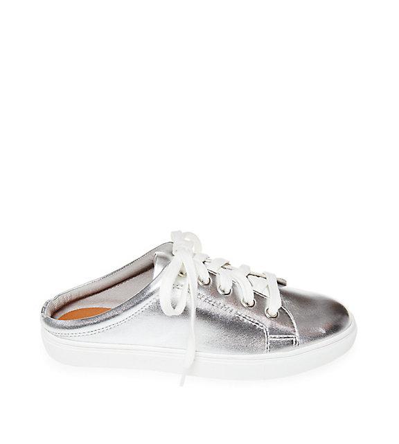 Steve Madden Lorren Backless Sneakers in Silver