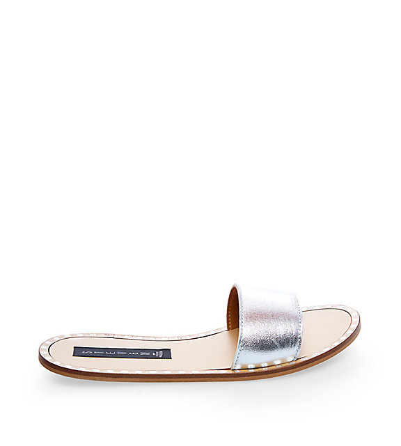 Steve Madden Daniel Silver Slide Sandals
