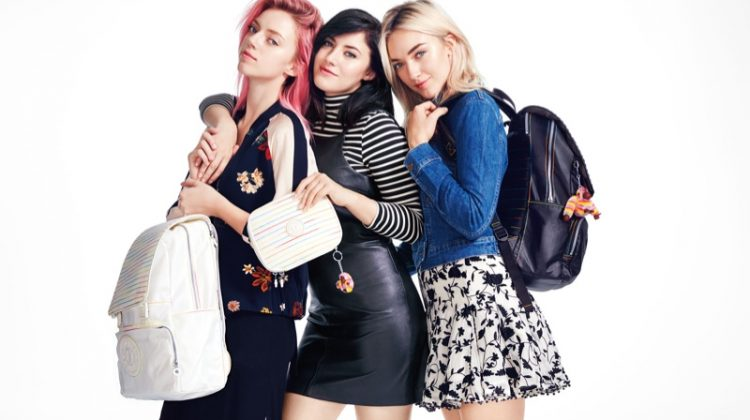 Sisters Pyper America, Daisy & Starlie Smith Are Ready for Back-to-School with Kipling