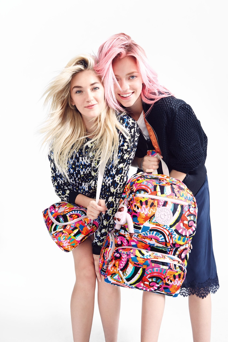Sisters Daisy Clementine and Pyper America Smith star in Kipling's 2016 back-to-school campaign