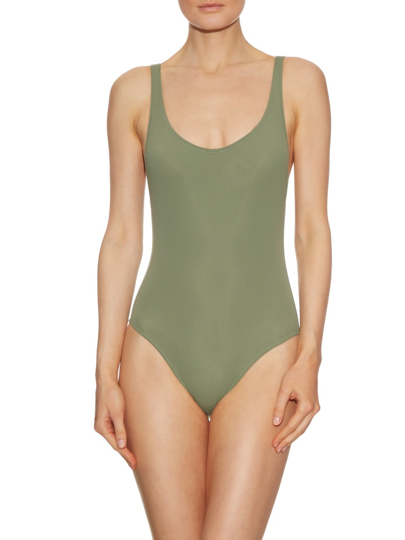 Solid & Striped The Anne-Marie One-Piece Swimsuit in Olive Green