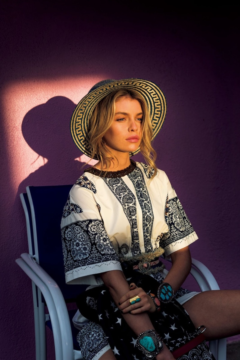 Stella Maxwell Embraces Bold Prints Amp Patterns For Vogue