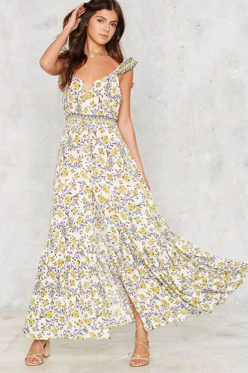 Nasty Gal Thriving Wild Maxi Dress