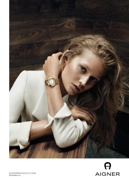 Toni Garrn Joins Iris Apfel for Aigner's Fall 2016 Campaign