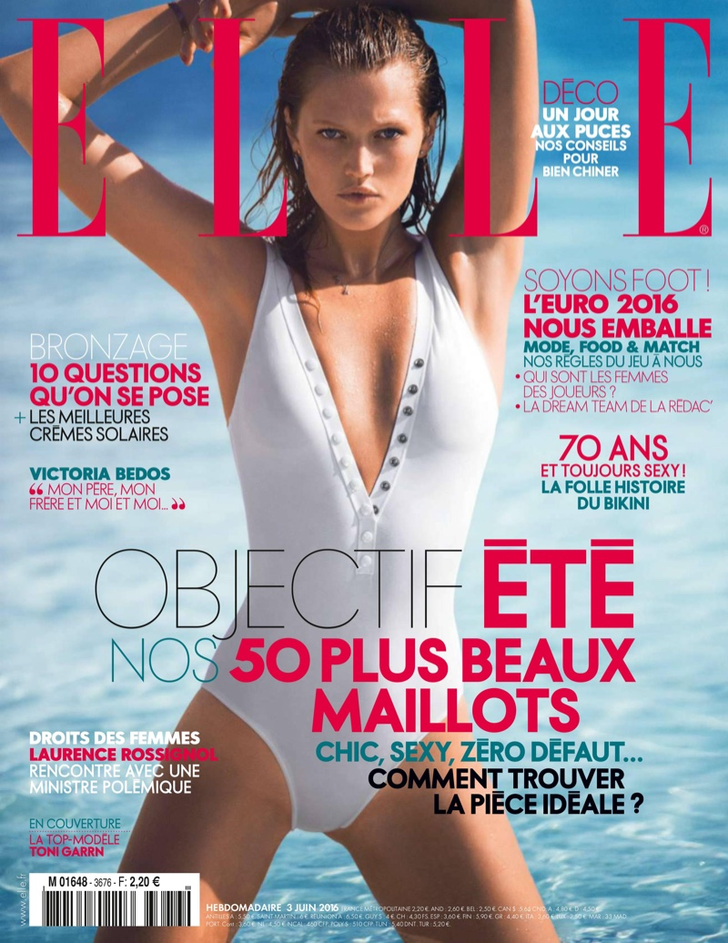 Toni Garrn on ELLE France June 2016 Cover