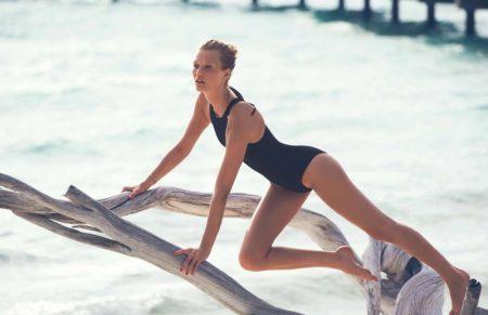 Toni Garrn Hits the Water for Swimsuit Season in ELLE France