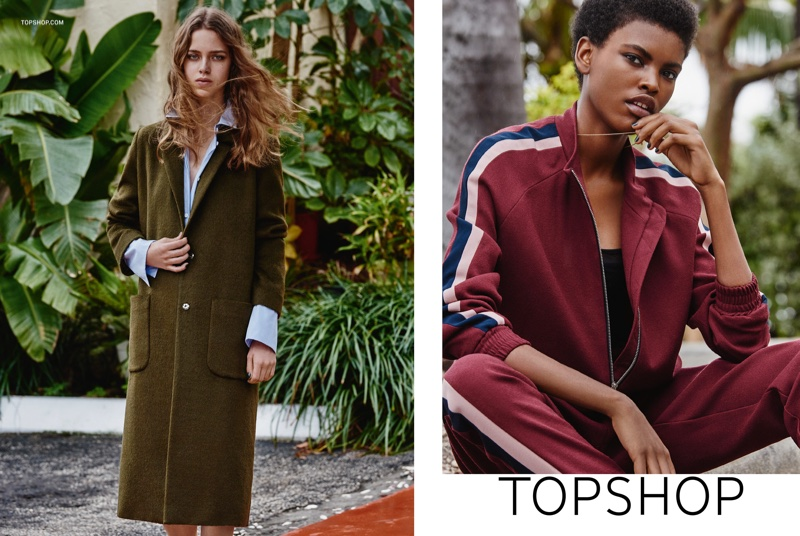 Topshop features summer fashions for a rainy day in new campaign