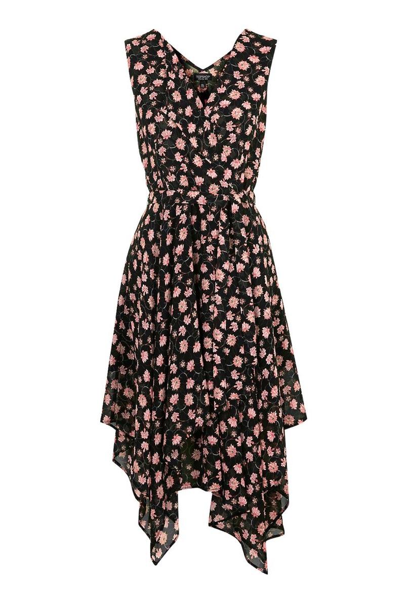 Topshop Romantic Floral Wrap Dress