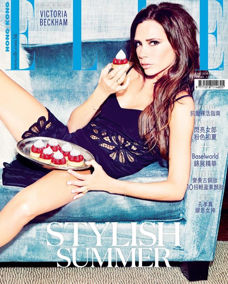 Victoria Beckham on ELLE Hong Kong June 2016 Cover