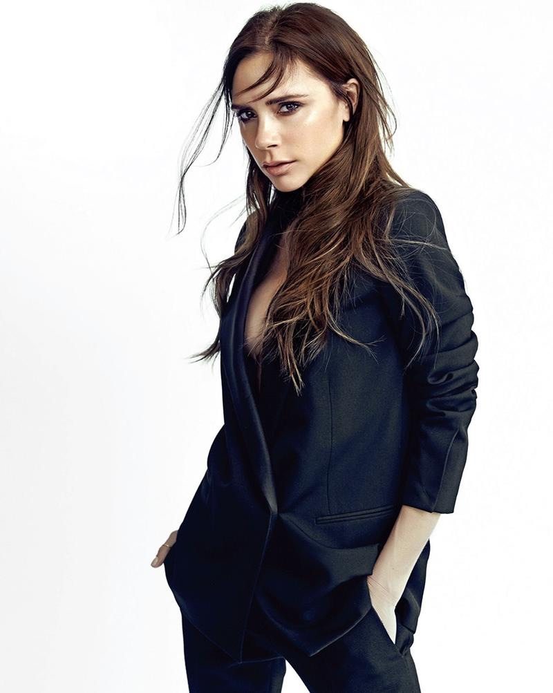 Designer Victoria Beckham poses in the studio for this shoot