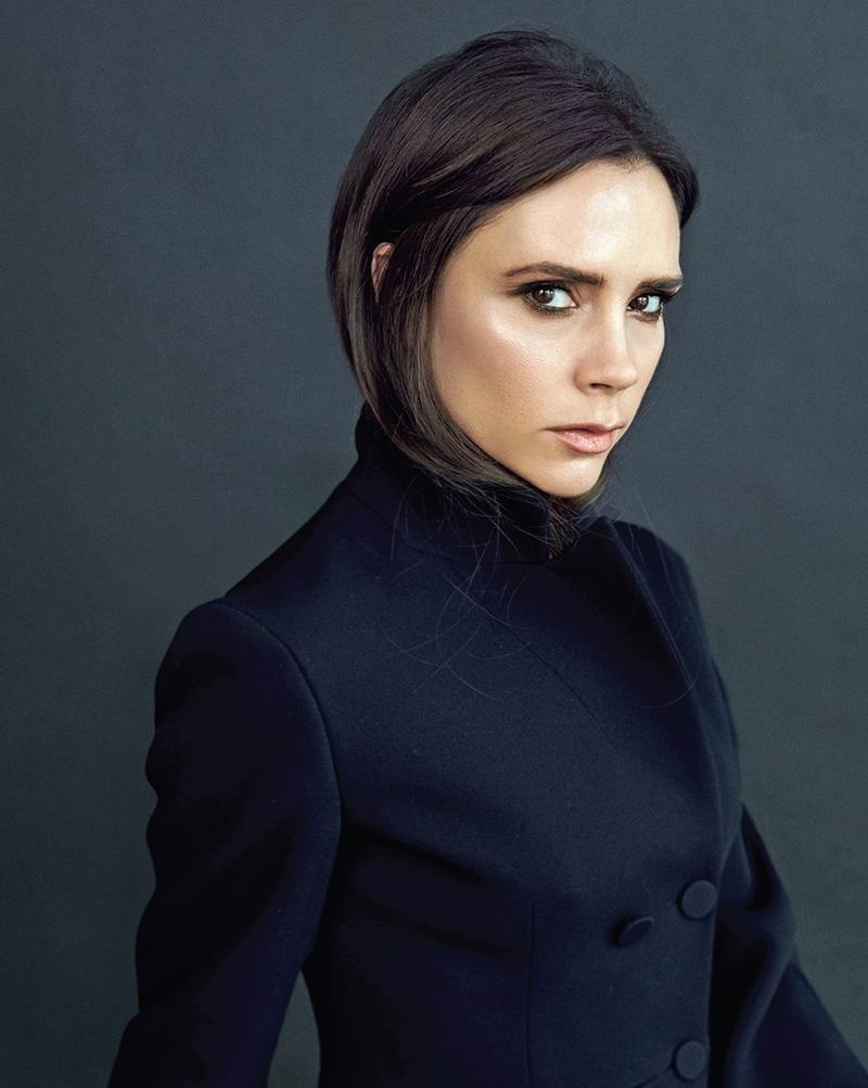 Victoria Beckham Poses in Effortlessly Chic Looks for ... Victoria Beckham