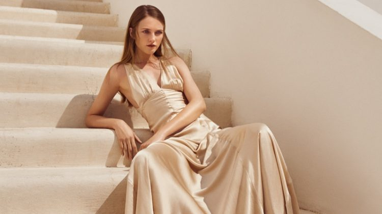 Vlada Roslyakova Poses in Lounge-Worthy Looks for Marie Claire Spain