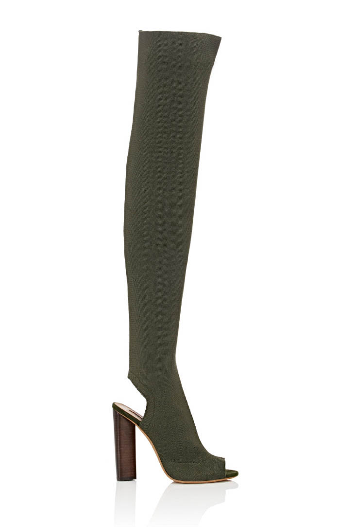 Yeezy Block Heel Knee-High Boots