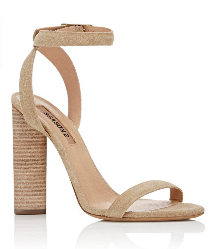 Yeezy Block Heel Sandals in beige