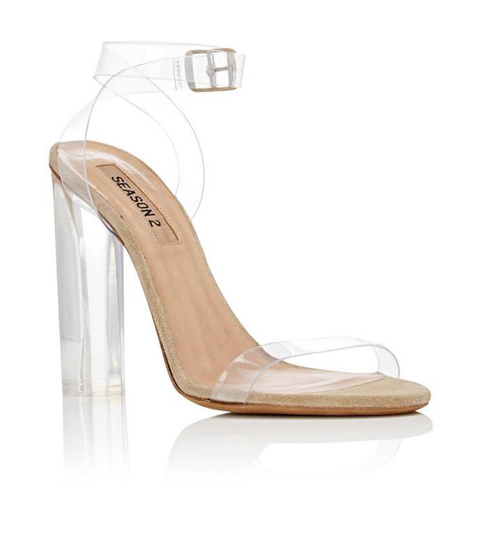 Yeezy Lucite PVC Heel Sandals