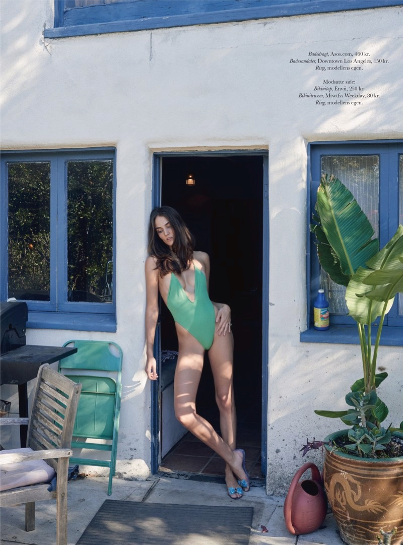 Zuzanna models green one-piece swimsuit from ASOS