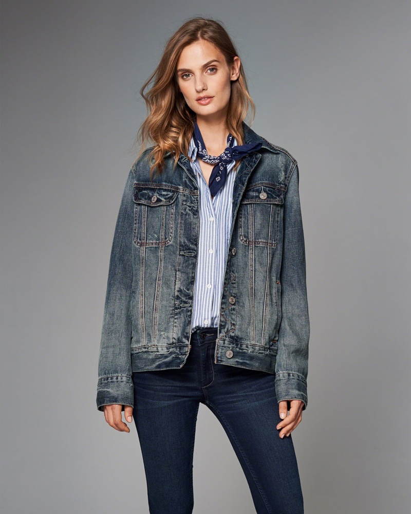 Abercrombie & Fitch Boyfriend Denim Jacket