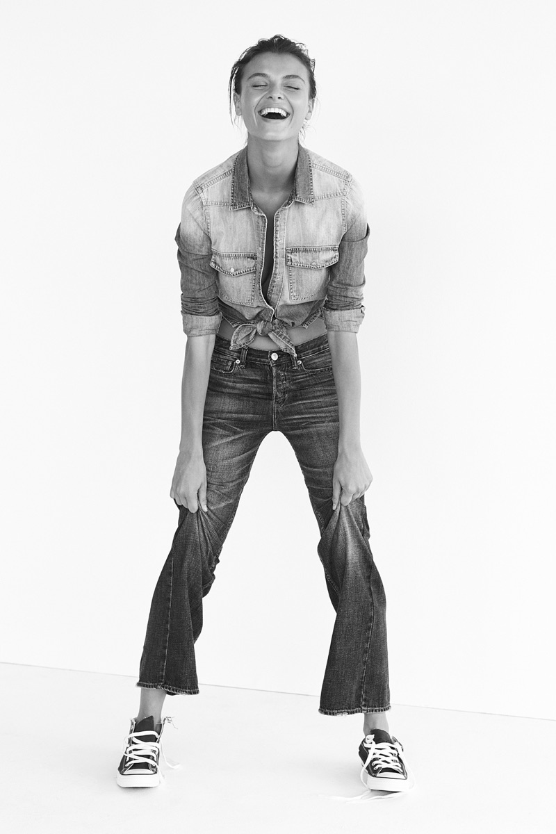 Abercrombie & Fitch features vintage inspired denim for fall 2016 campaign