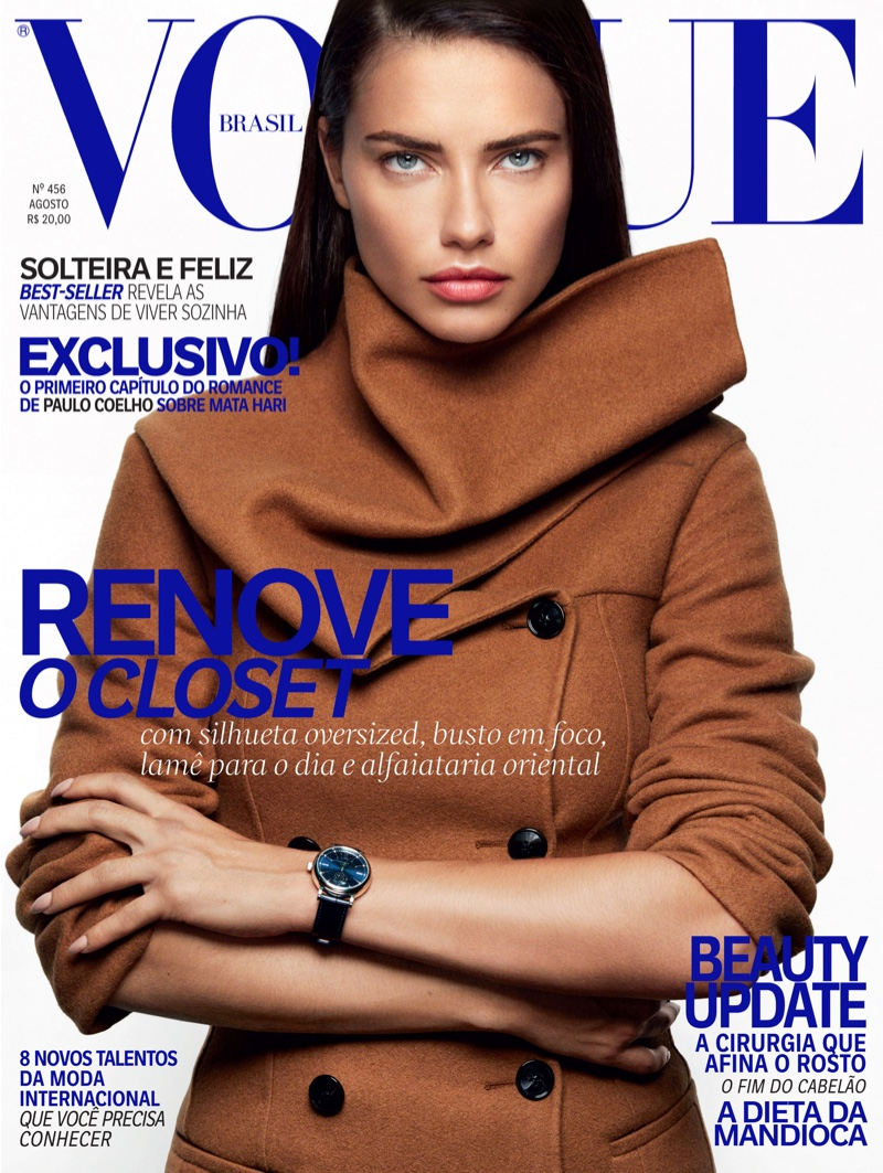 Adriana Lima on Vogue Brazil August 2016 Cover
