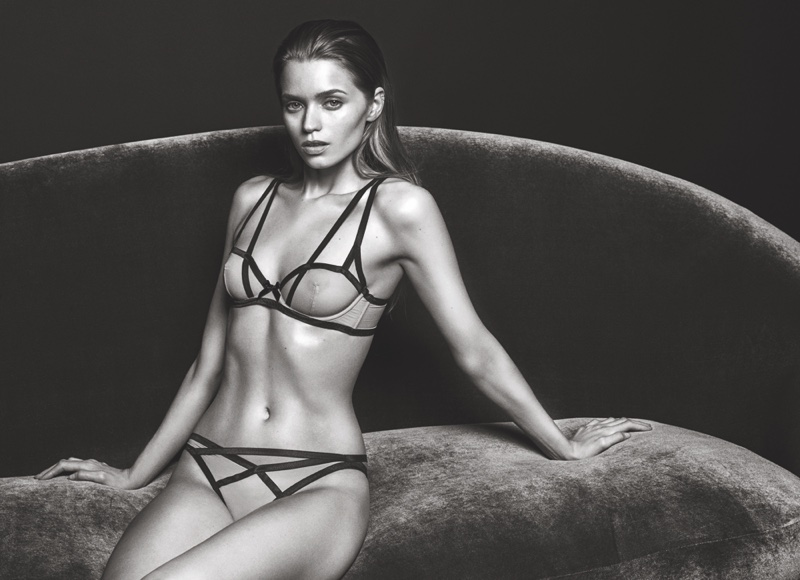 Abbey Lee Kershaw smolders in Agent Provocateur's fall-winter 2016 campaign