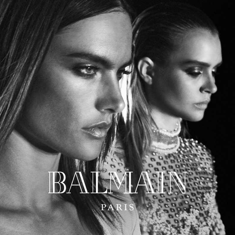 Alessandra Ambrosio gets moody for Balmain's fall 2016 campaign